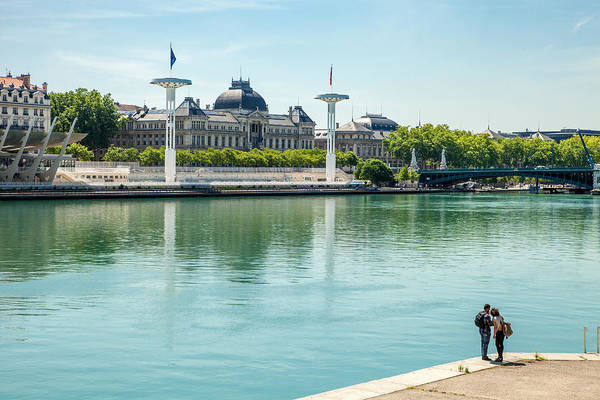Rhone River Photograph - Rhone Waterfront In Lyon by W Chris Fooshee
