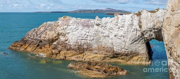 Coastline Digital Art - Rhoscolyn Arch by Adrian Evans