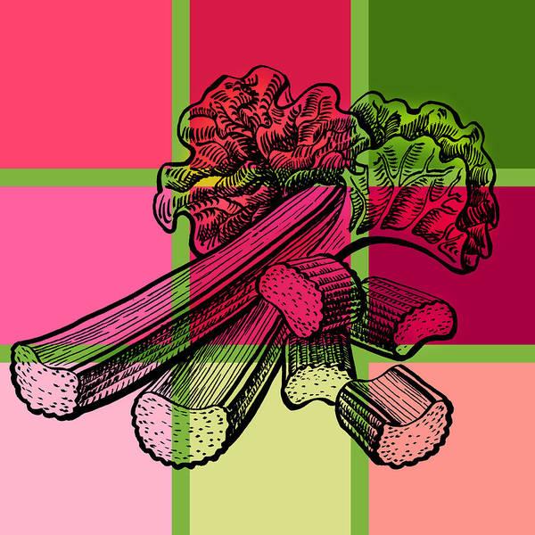 Stalk Painting - Rhubarb Quilt by Irina Sztukowski