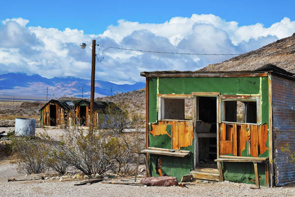 Photograph - Rhyolite Ghost Town Houses by Kyle Hanson