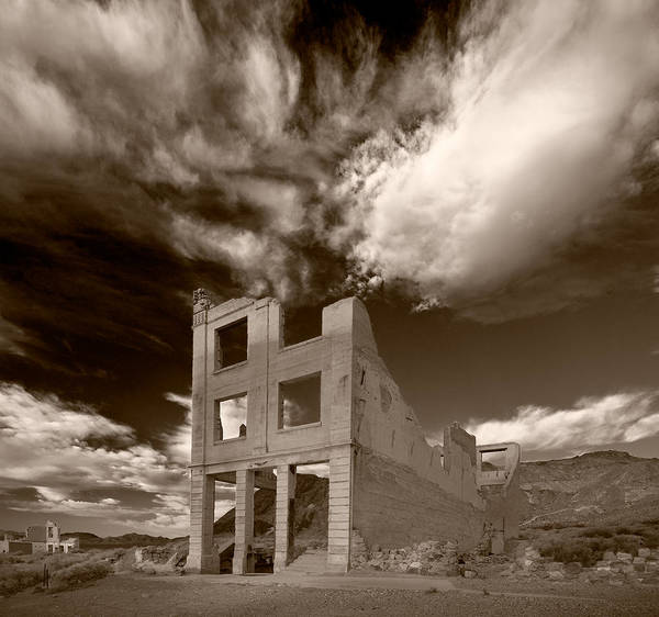 Ghost Town Photograph - Rhyolite Nevada Ghost Town by Steve Gadomski