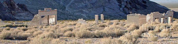 Wall Art - Photograph - Rhyolite Ghost Town Panorama by Steve  Gass