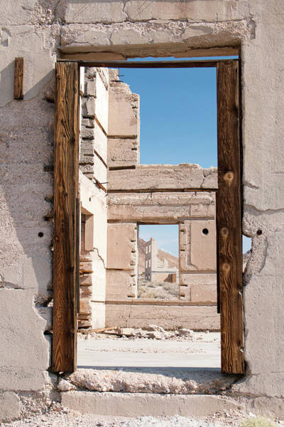 Photograph - Rhyolite Through Windows by Kristia Adams
