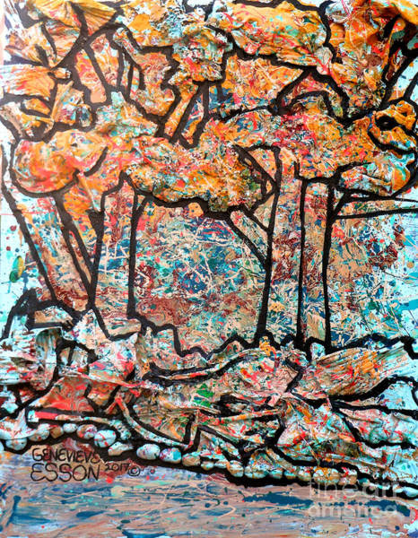 Spatter Mixed Media - Rhythm Of The Forest by Genevieve Esson