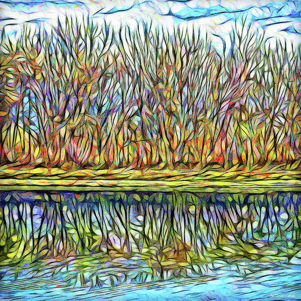 Digital Art - Rhythmic Reflections Of Trees by Joel Bruce Wallach