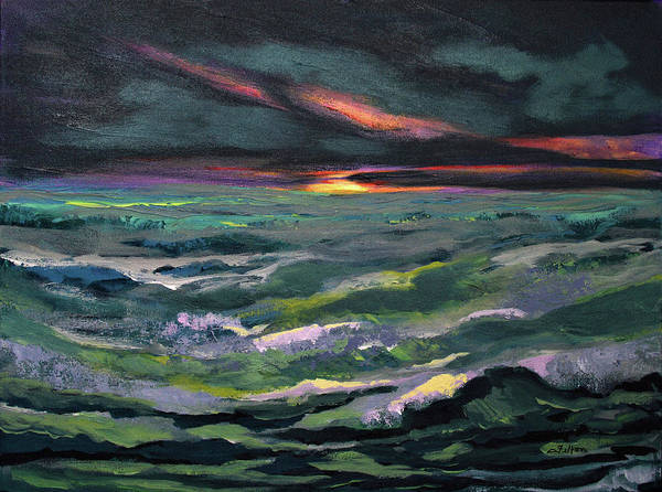 Painting - Rhythmic Sunrise Sea by Julianne Felton