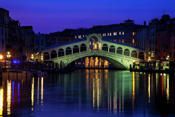 Wall Art - Photograph - Rialto Bridge At Twilight by Andrew Soundarajan