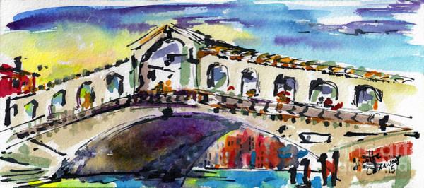 Painting - Rialto Bridge Sunny Venice Italy   by Ginette Callaway