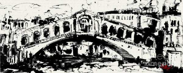Painting - Rialto Bridge Venice by Ginette Callaway