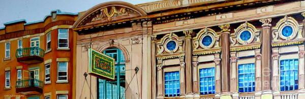 Painting - Rialto Theatre Montreal Architecture Historic Cinema Painting Carole Spandau by Carole Spandau