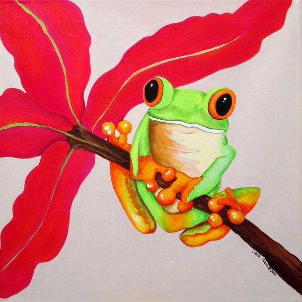 Wall Art - Painting - Ribbit by Carol Sabo