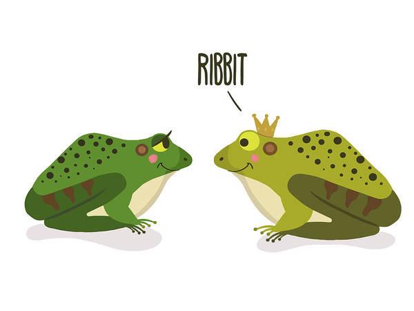 Prince Charming Wall Art - Digital Art - Ribbit Frogs by Nicole Wilson