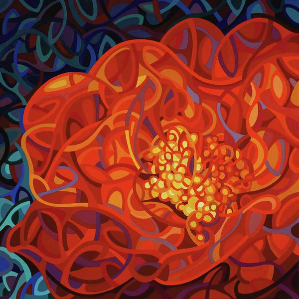 Macro Painting - Ribbons And Pearls by Mandy Budan