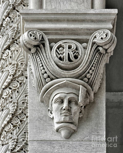 Village Gate Photograph - Rice University Scholarly Senior Gargoyle by Norman Gabitzsch