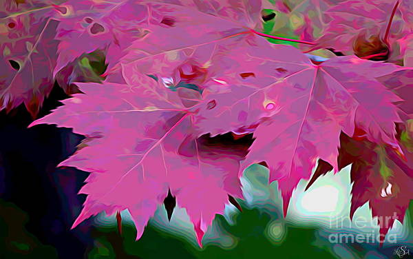 Photograph - Rich Red Autumn Maple Leaves Melting Colors Effect by Rose Santuci-Sofranko
