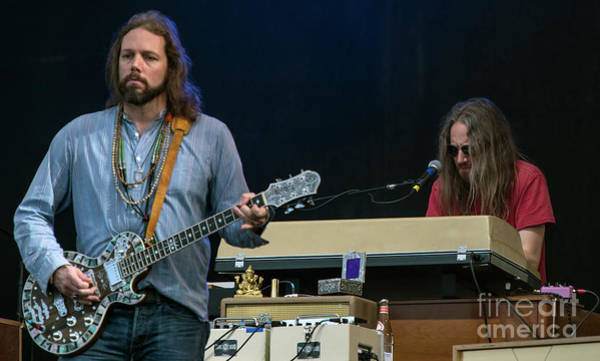 Black Crowes Wall Art - Photograph - Rich Robinson And Adam Macdougall With The Black Crowes by David Oppenheimer