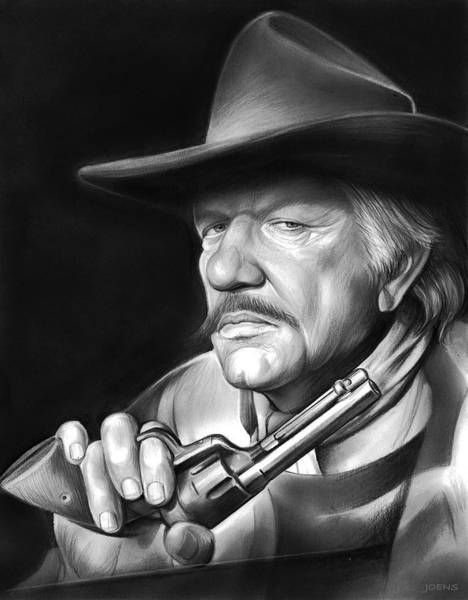 Stars Drawing - Richard Boone by Greg Joens