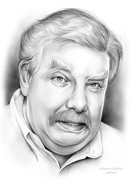 Wall Art - Drawing - Richard Griffiths by Greg Joens