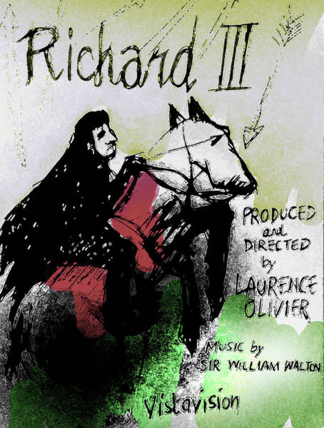 Globe Theatre Drawing - Richard IIi  Poster  by Paul Sutcliffe