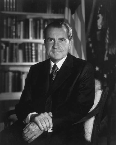 Republican Party Photograph - Richard Nixon - 37th President Of The United States by War Is Hell Store