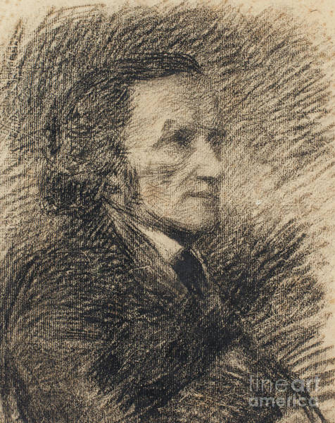 Wall Art - Drawing - Richard Wagner  by Pierre Auguste Renoir