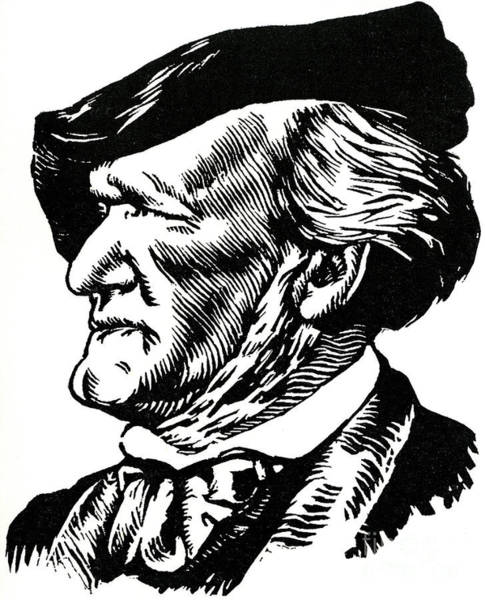 Wall Art - Drawing - Richard Wagner Portrait By Felix Edouard Vallotton by Felix Edouard Vallotton