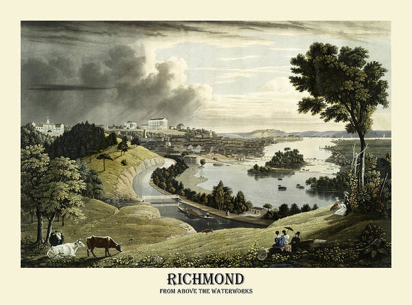 Photograph - Richmond 1834 by Andrew Fare