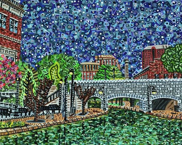 Wall Art - Painting - Richmond Canal Walk by Micah Mullen