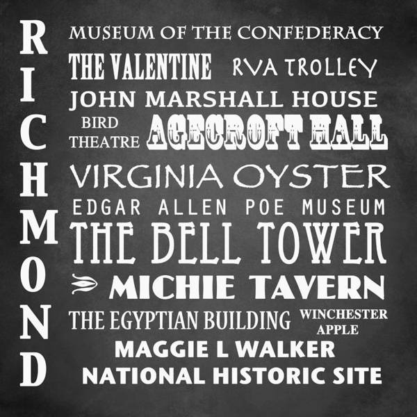 Historic House Digital Art - Richmond Famous Landmarks by Patricia Lintner