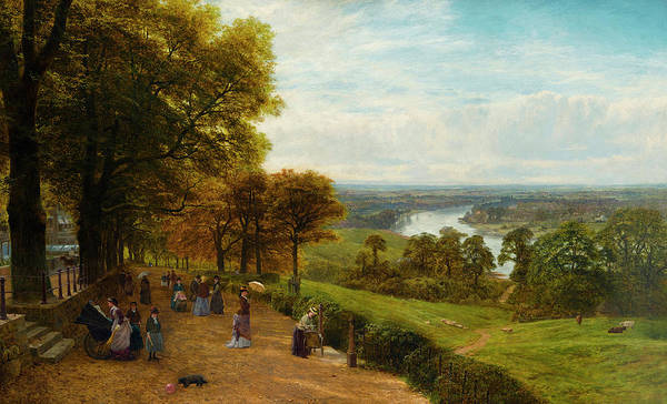Trader Painting - Richmond Hill by George Vicat Cole