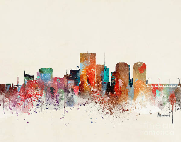 Wall Art - Painting - Richmond Skyline by Bri Buckley
