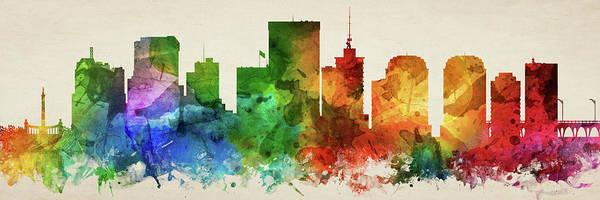 Wall Art - Digital Art - Richmond Skyline Panorama Usvari-pa03 by Aged Pixel