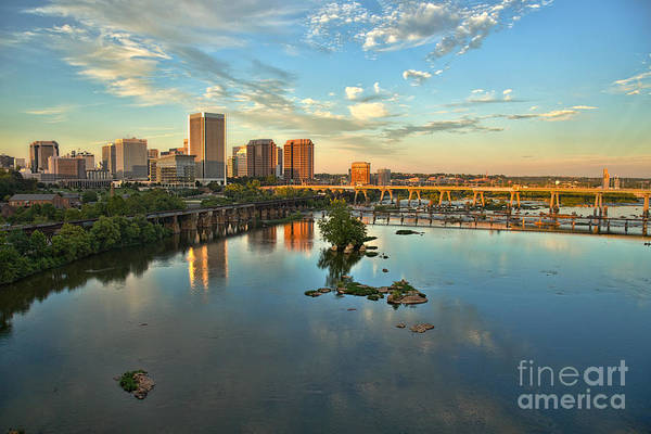 Photograph - Richmond Skyline Sunset Golden by Jemmy Archer
