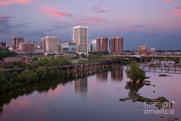 Photograph - Richmond Skyline Sunset Pink by Jemmy Archer
