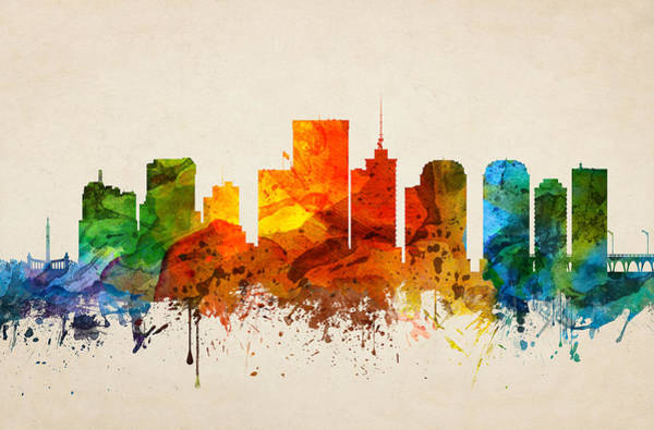 Richmond Virginia Wall Art - Painting - Richmond Virginia Skyline 16 by Aged Pixel