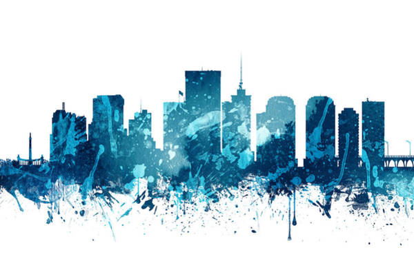 Richmond Virginia Wall Art - Painting - Richmond Virginia Skyline 20 by Aged Pixel