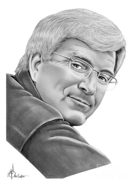 Famous People Drawing - Rick Steves by Murphy Elliott