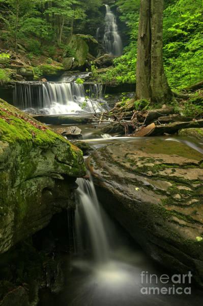 Triple Falls Photograph - Ricketts Glen Ozone Falls by Adam Jewell