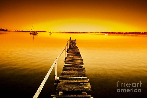 Photograph - Rickety Pier Sunset by Jorgo Photography - Wall Art Gallery