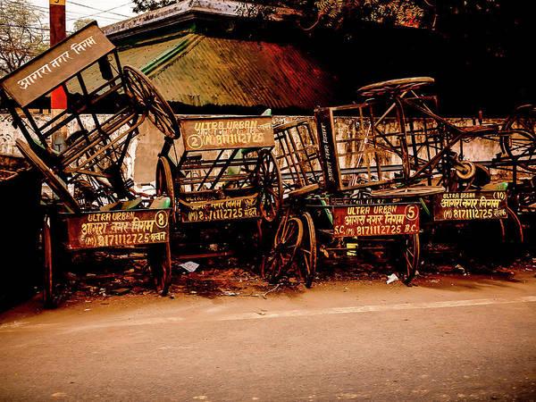 Photograph - Rickshaws by M G Whittingham