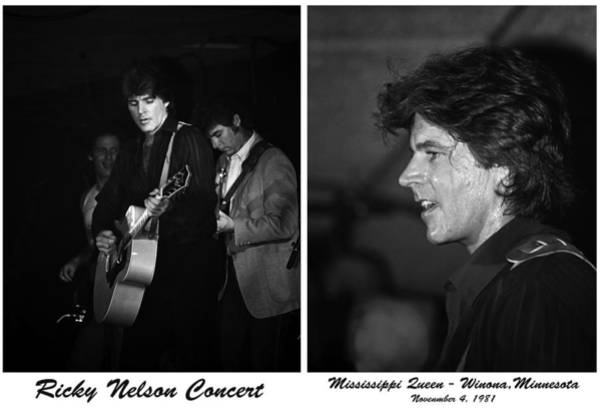 Winona Photograph - Ricky Nelson Diptych by Al  Mueller