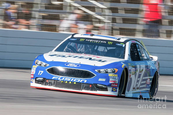 Photograph - Ricky Stenhouse Jr Rounding Turn 1 by Paul Quinn