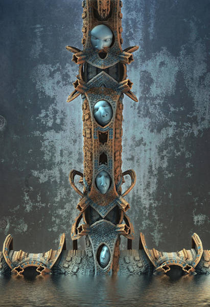 Digital Art - Riddle Totem by Hal Tenny