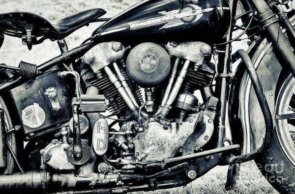 Harley Davidson Black And White Wall Art - Photograph - Ride A Knuck by Tim Gainey