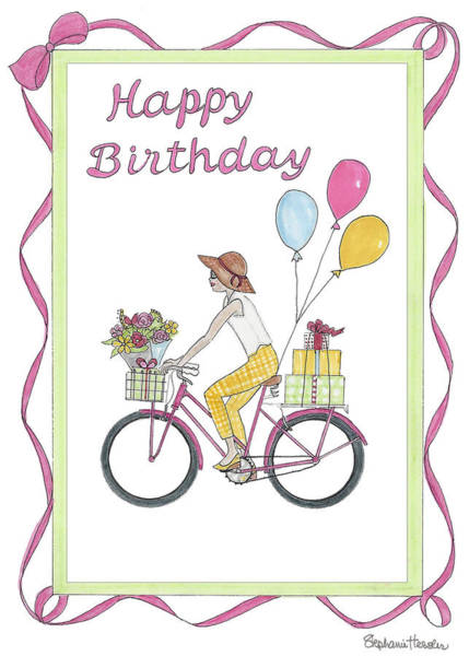 Mixed Media - Ride In Style - Happy Birthday by Stephanie Hessler