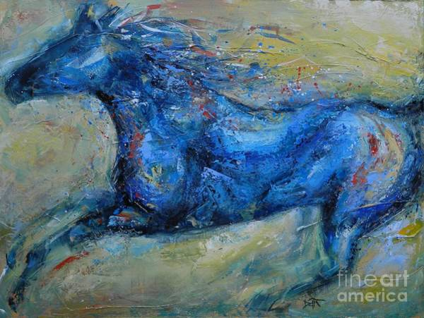 Daring Painting - Ride Like The Wind by Dan Campbell