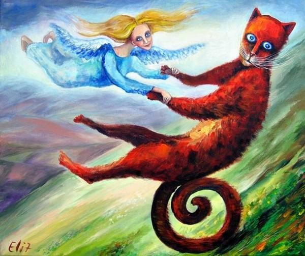 Boldness Painting - Ride The Tail by Elisheva Nesis