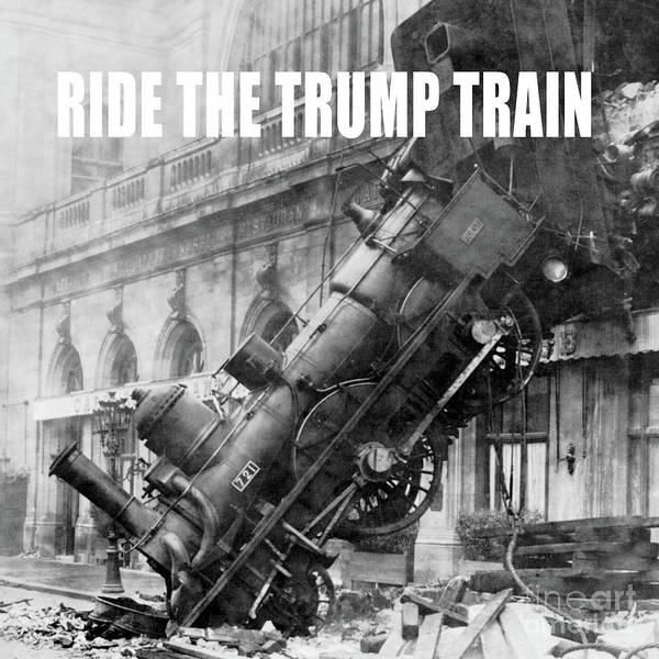 Donald Photograph - Ride The Trump Train by Edward Fielding