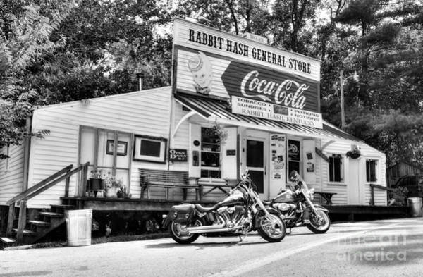 Wood Siding Wall Art - Photograph - Ride To Rabbit Hash Bw by Mel Steinhauer