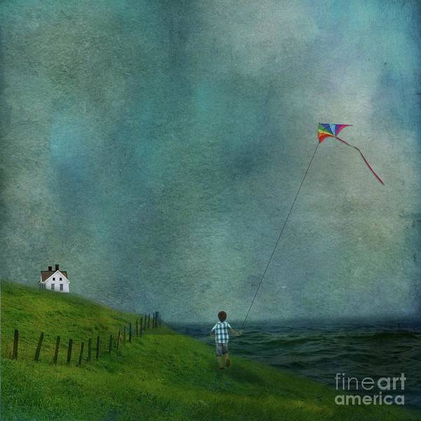 Kite Photograph - Ride With The Wind by AJ Yoder